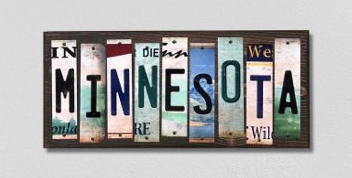 Minnesota License Plate Strips Novelty Wood Signs WS-173