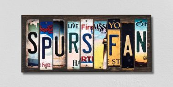 Spurs Fan License Plate Strips Novelty Wood Signs WS-365