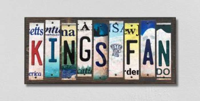 Kings Fan License Plate Strips Novelty Wood Signs WS-382