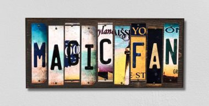 Magic Fan License Plate Strips Novelty Wood Signs WS-387