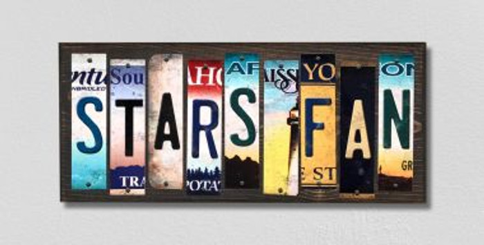 Stars Fan License Plate Strips Novelty Wood Signs WS-447