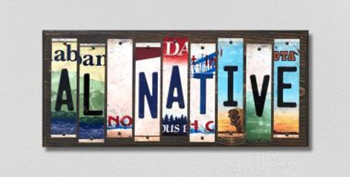AL Native License Plate Strips Novelty Wood Signs WS-503