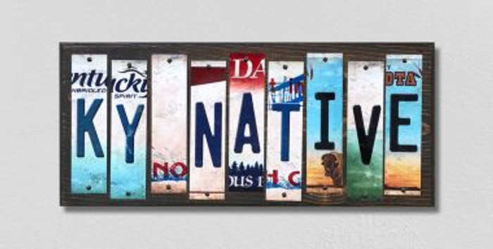 KY Native License Plate Strips Novelty Wood Signs WS-518