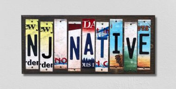 NJ Native License Plate Strips Novelty Wood Signs WS-531