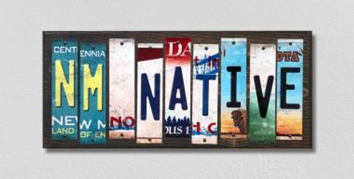 NM Native License Plate Strips Novelty Wood Signs WS-532