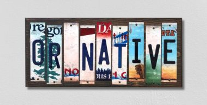 OR Native License Plate Strips Novelty Wood Signs WS-538