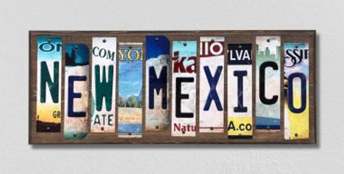 New Mexico License Plate Strips Novelty Wood Signs WS-181