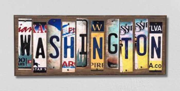 Washington License Plate Strips Novelty Wood Signs WS-197