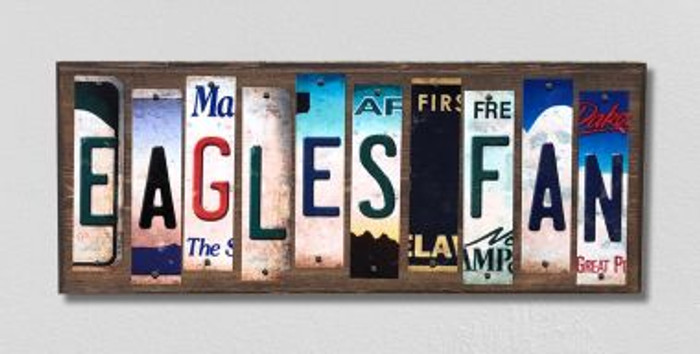 Eagles Fan License Plate Strips Novelty Wood Signs WS-327