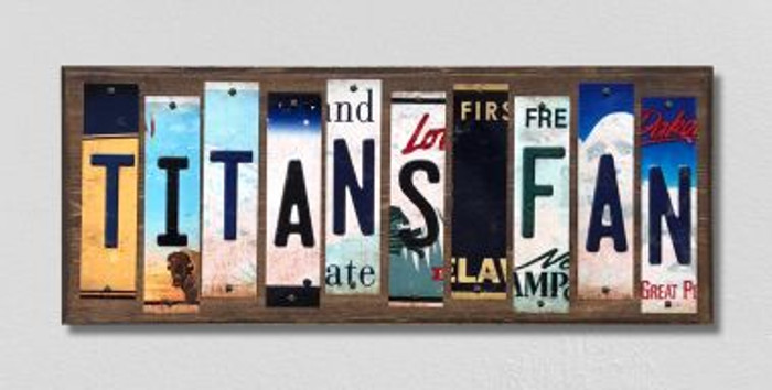 Titans Fan License Plate Strips Novelty Wood Signs WS-352