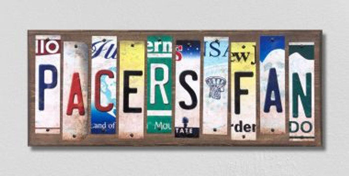Pacers Fan License Plate Strips Novelty Wood Signs WS-379