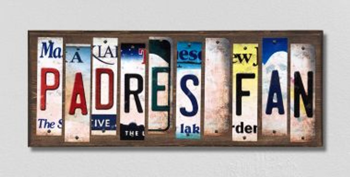 Padres Fan License Plate Strips Novelty Wood Signs WS-410