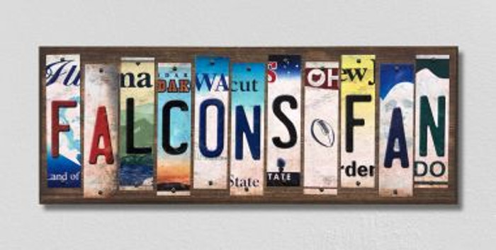 Falcons Fan License Plate Strips Novelty Wood Signs WS-348