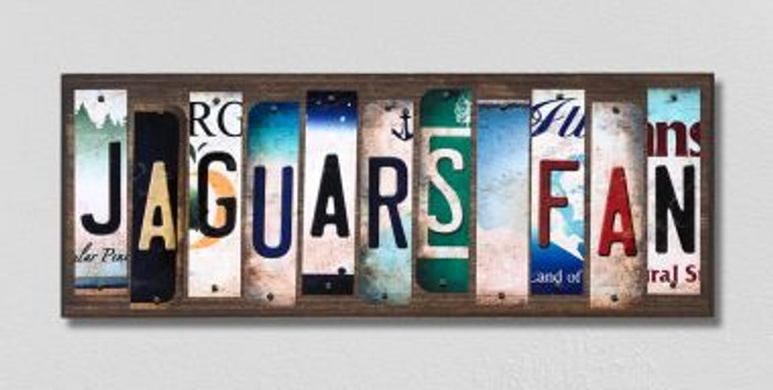 Jaguars Fan License Plate Strips Novelty Wood Signs WS-355