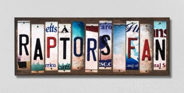 Raptors Fan License Plate Strips Novelty Wood Signs WS-363