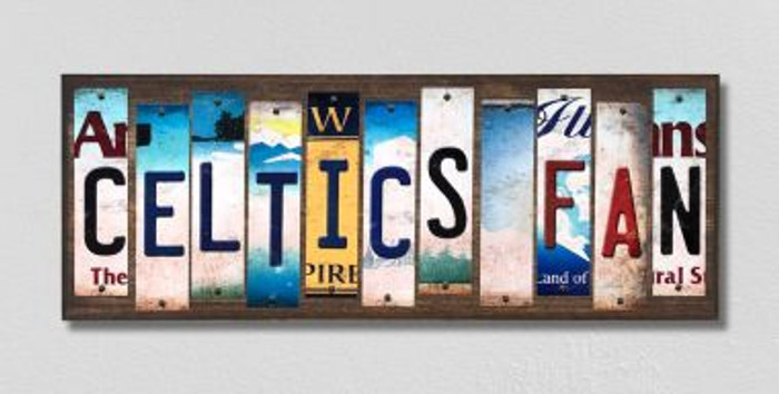 Celtics Fan License Plate Strips Novelty Wood Signs WS-364