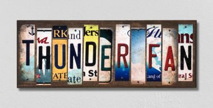 Thunder Fan License Plate Strips Novelty Wood Signs WS-366
