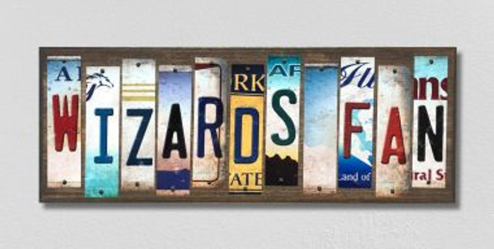 Wizards Fan License Plate Strips Novelty Wood Signs WS-380