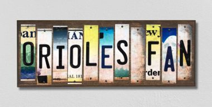 Orioles Fan License Plate Strips Novelty Wood Signs WS-402