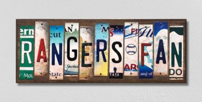 Rangers Fan License Plate Strips Novelty Wood Signs WS-406