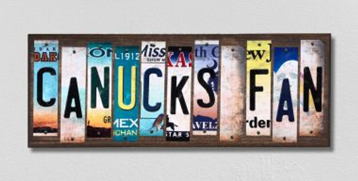 Canucks Fan License Plate Strips Novelty Wood Signs WS-425
