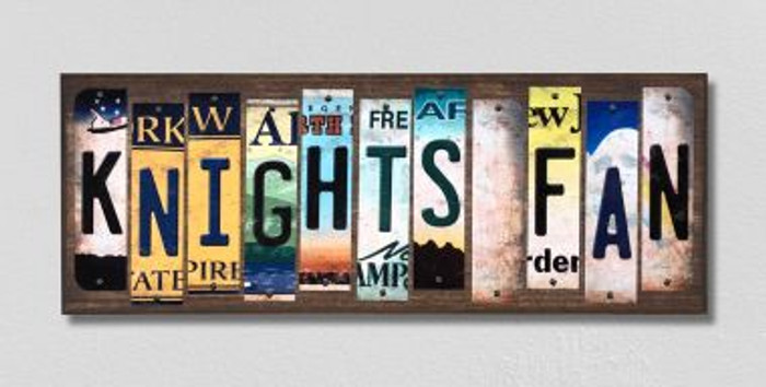 Knights Fan License Plate Strips Novelty Wood Signs WS-431
