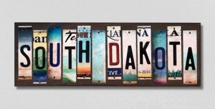 South Dakota License Plate Strips Novelty Wood Signs WS-191