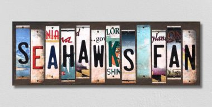 Seahawks Fan License Plate Strips Novelty Wood Signs WS-330