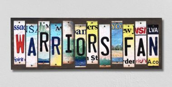 Warriors Fan License Plate Strips Novelty Wood Signs WS-360