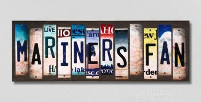 Mariners Fan License Plate Strips Novelty Wood Signs WS-401
