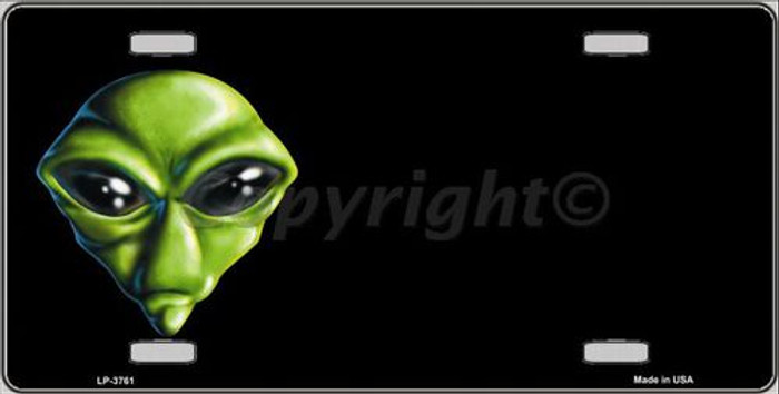 Alien Offset Metal Novelty License Plate LP-3761