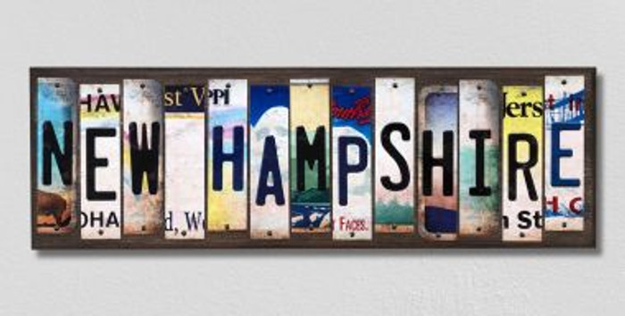 New Hampshire License Plate Strips Novelty Wood Signs WS-179