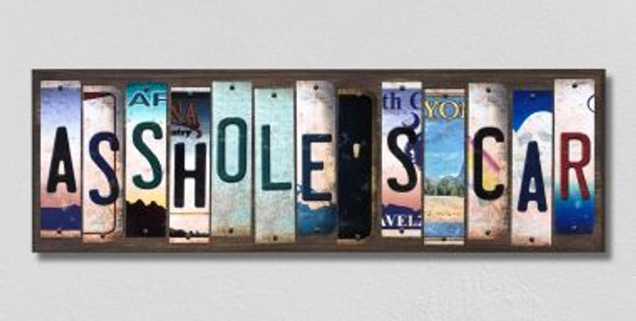 Assholes Car License Plate Strips Novelty Wood Signs WS-294