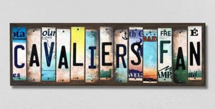 Cavaliers Fan License Plate Strips Novelty Wood Signs WS-359