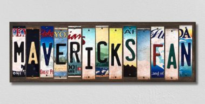 Mavericks Fan License Plate Strips Novelty Wood Signs WS-381