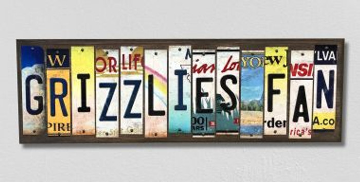 Grizzlies Fan License Plate Strips Novelty Wood Signs WS-388