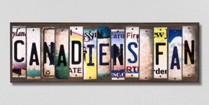 Canadiens Fan License Plate Strips Novelty Wood Signs WS-422
