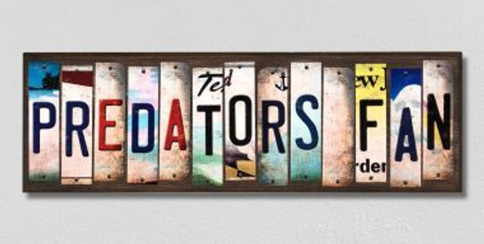 Predators Fan License Plate Strips Novelty Wood Signs WS-436
