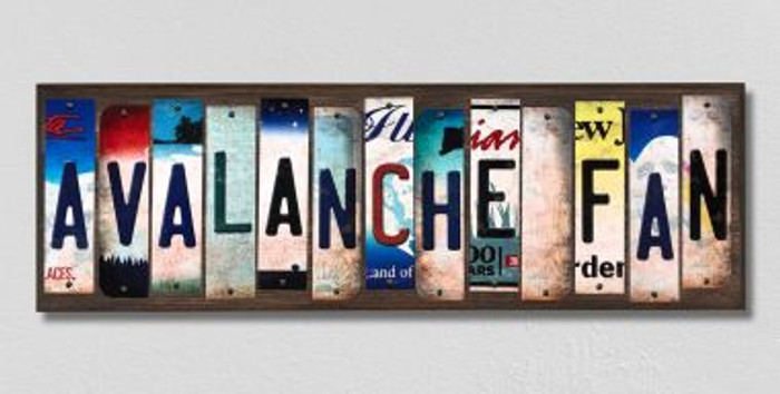 Avalanche Fan License Plate Strips Novelty Wood Signs WS-446