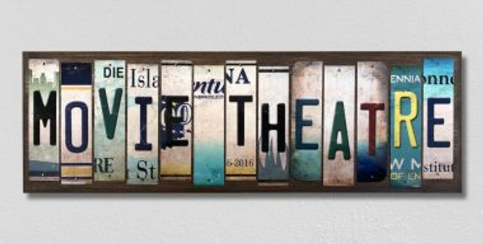 Movie Theatre License Plate Strips Novelty Wood Signs WS-480