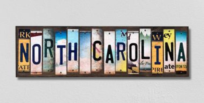 North Carolina License Plate Strips Novelty Wood Signs WS-183