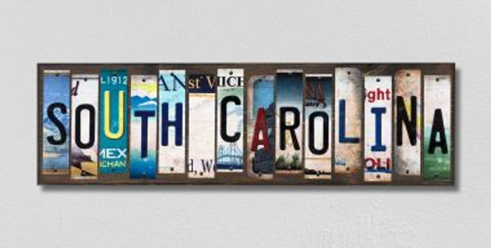 South Carolina License Plate Strips Novelty Wood Signs WS-190