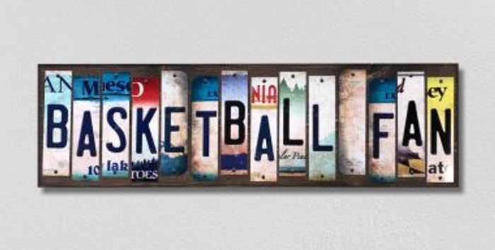 Basketball Fan License Plate Strips Novelty Wood Signs WS-285