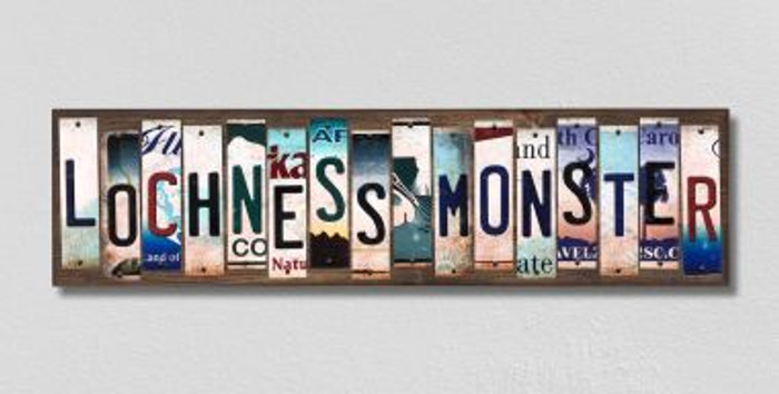 Lochness Monster License Plate Strips Novelty Wood Signs WS-319