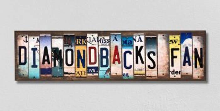 Diamondbacks Fan License Plate Strips Novelty Wood Signs WS-413