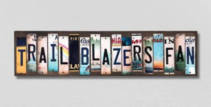 Trail Blazers Fan License Plate Strips Novelty Wood Signs WS-374