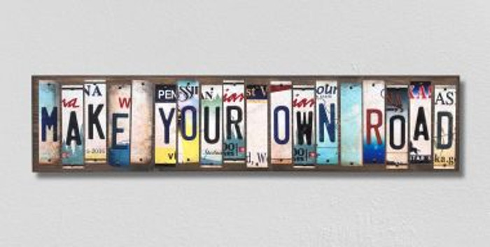 Make Your Own Road License Plate Strips Novelty Wood Signs WS-201
