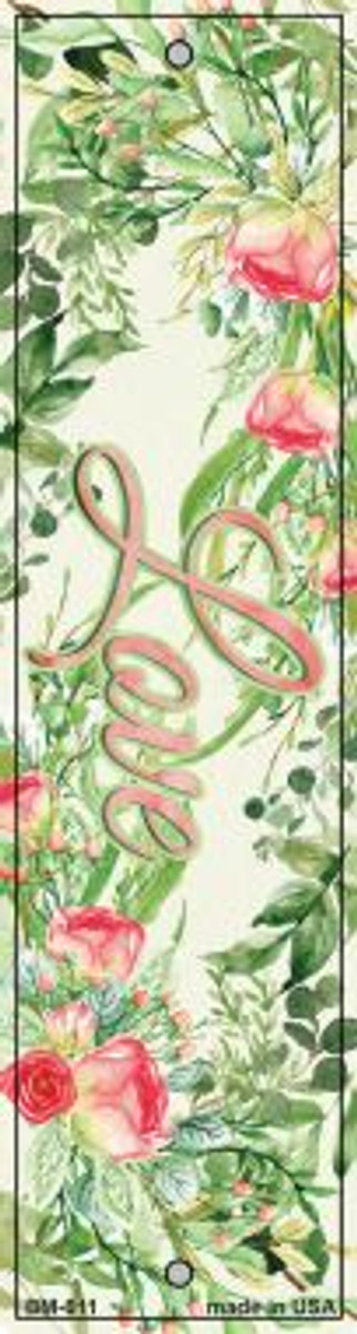 Love on Flowers Novelty Metal Bookmark BM-011