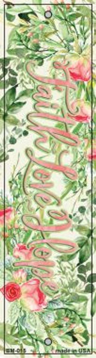 Faith Love and Joy Novelty Metal Bookmark BM-015