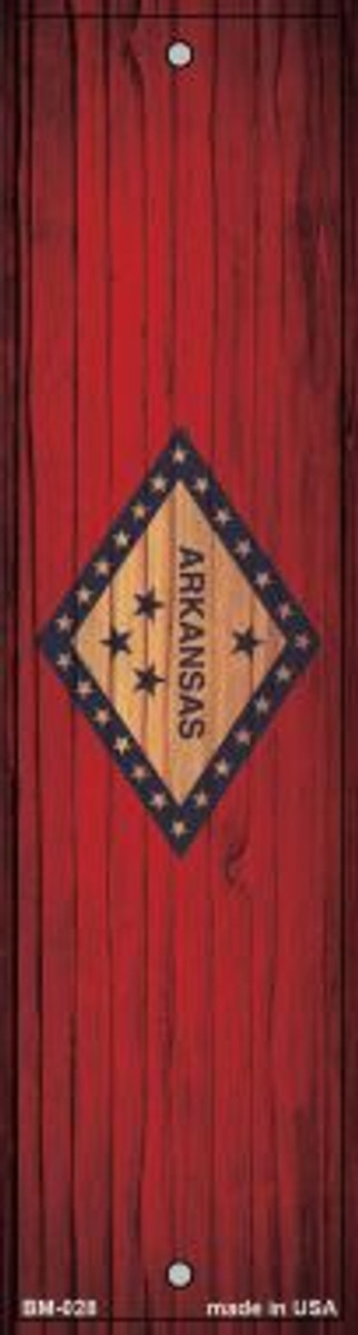 Arkansas Flag Novelty Metal Bookmark BM-028